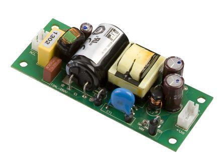 XP Power , 15W AC-DC Converter, 12V dc, Open Frame