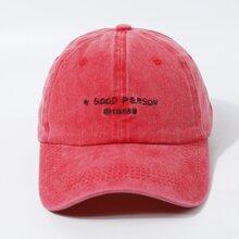 Maenner Baseball Hut mit Buchstaben Stickereien