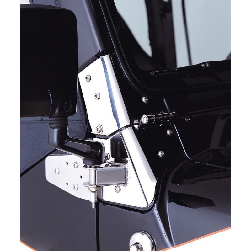 Rugged Ridge 11026.02 Mirror Relocation Bracket Kit, Stainless Steel; 97-02 Jeep Wrangler TJ Jeep Wrangler 1997-2002