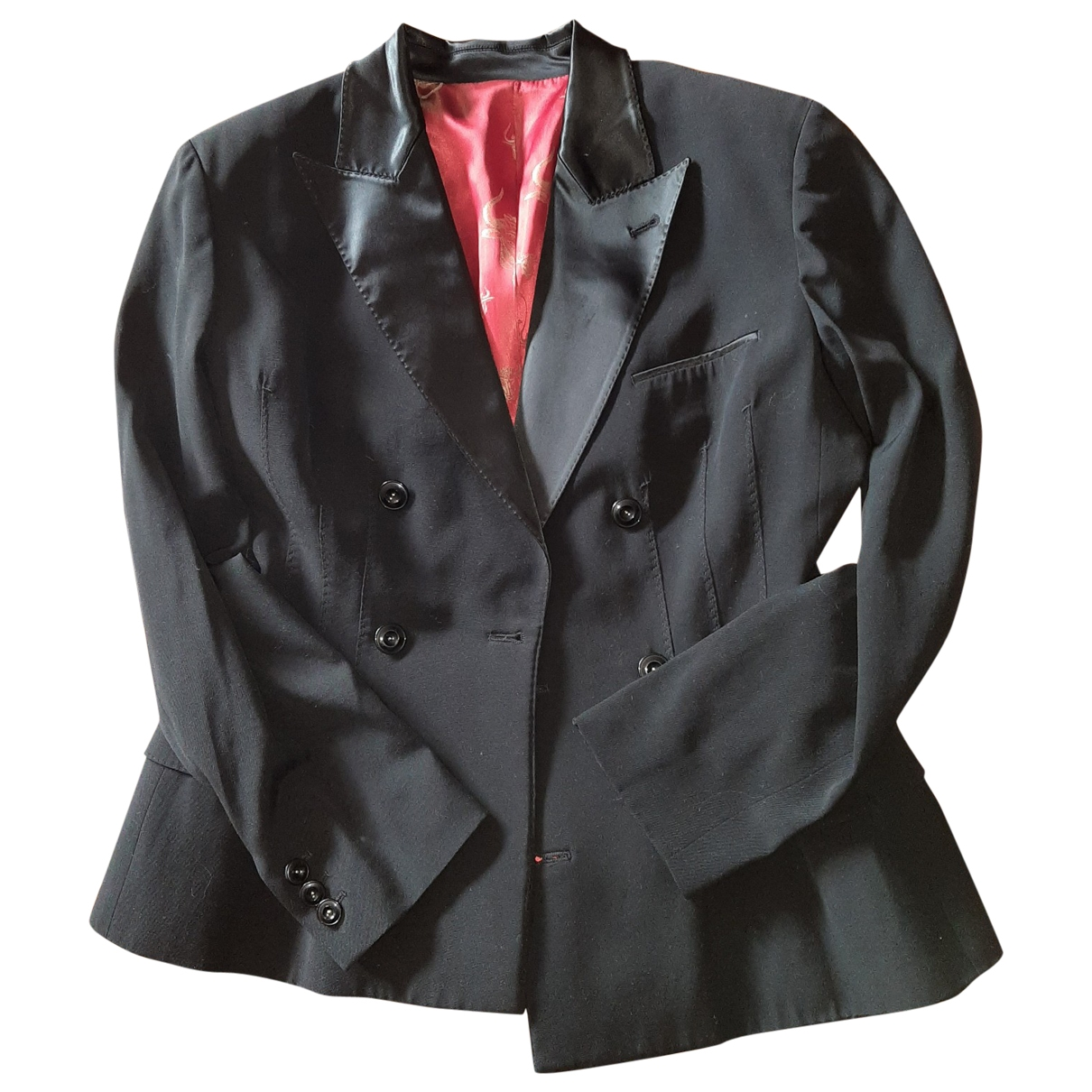 Jean Paul Gaultier \N Black Wool jacket for Women 44 FR