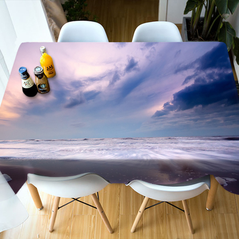 Birthday Decoration Vibrant Color European Style 3D Tablecloth
