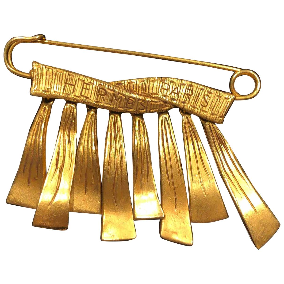 Hermes \N Brosche in Metall
