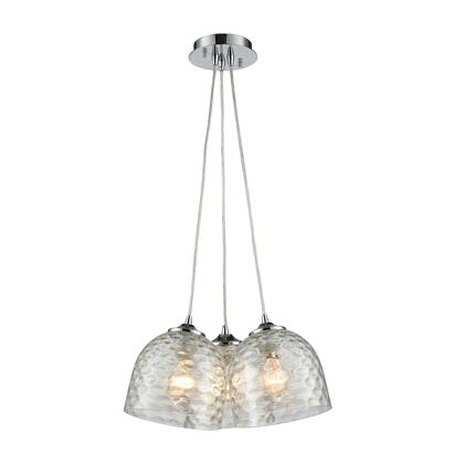 31080/3SR-CLR Pendant Options 3 Light Pendant in Polished