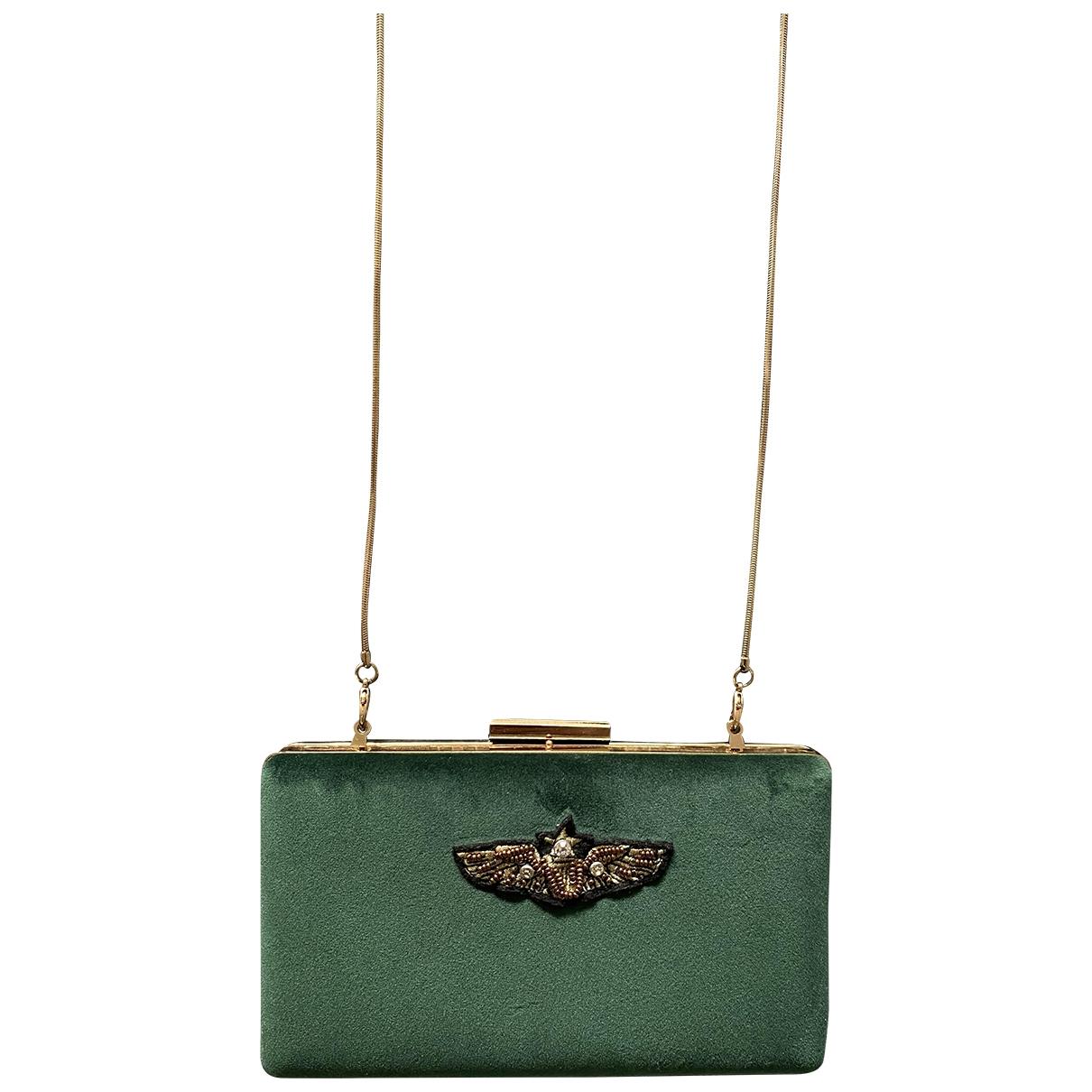 Zara - Pochette   pour femme en velours - vert