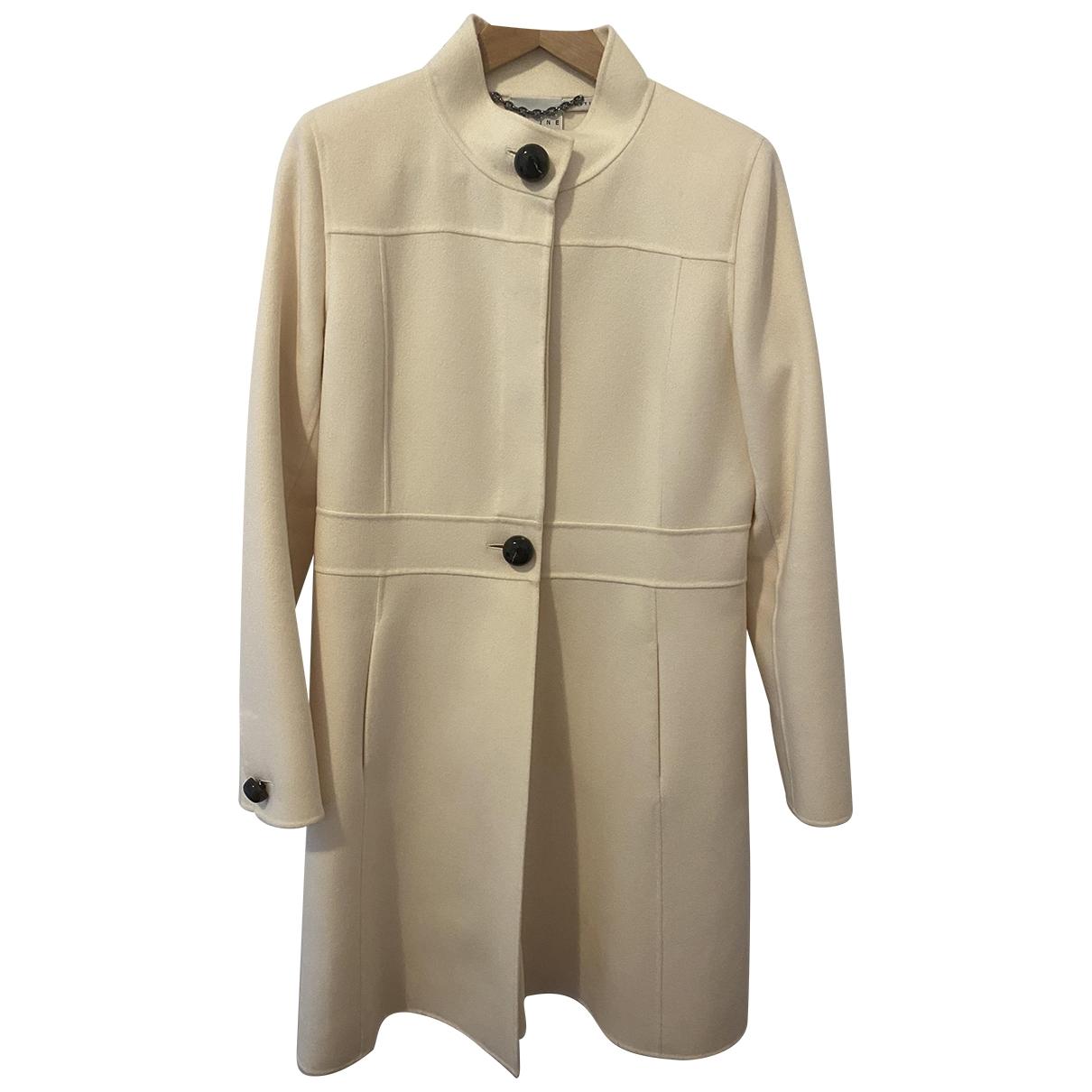 Celine \N Ecru Cashmere coat for Women 44 FR