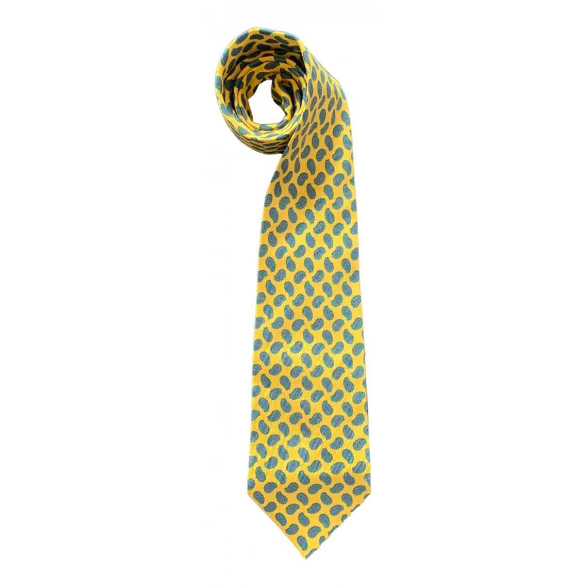 Etro \N Krawatten in  Gelb Seide