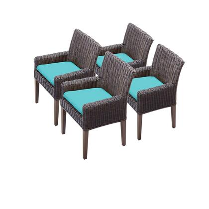 TKC099b-DC-2x-C-ARUBA 4 Venice Dining Chairs With Arms with 2 Covers: Wheat and