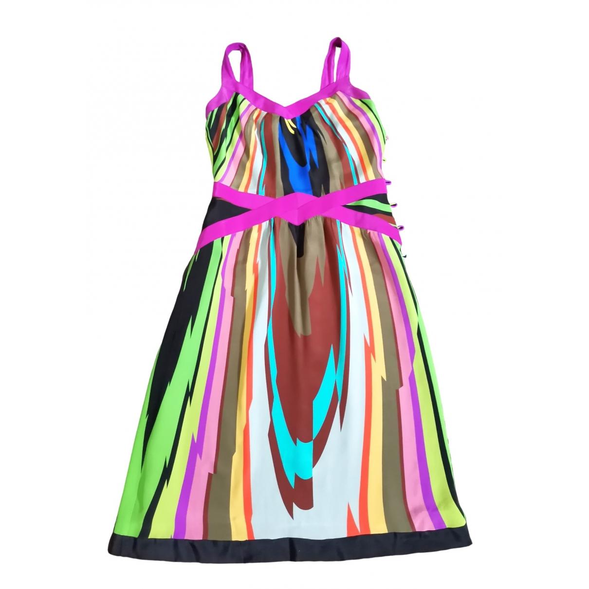 Milly - Robe   pour femme en soie - multicolore