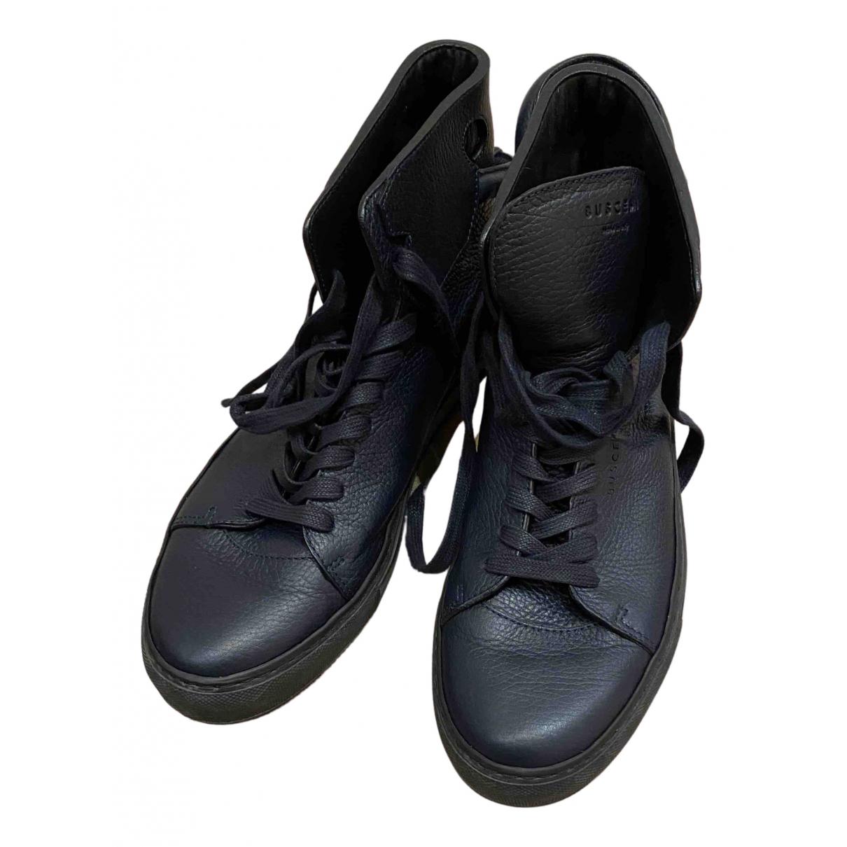 Buscemi \N Sneakers in  Blau Leder