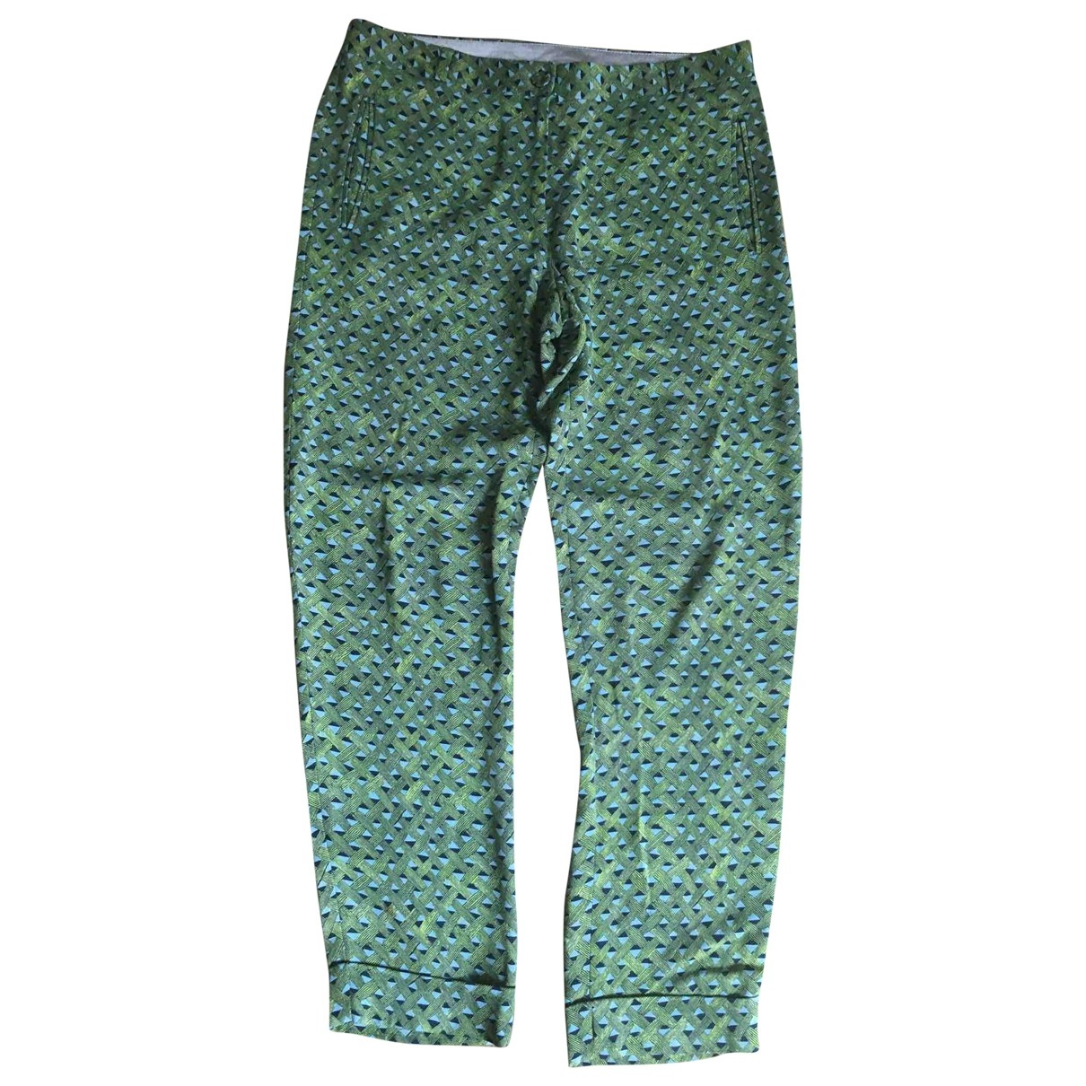 Mauro Grifoni \N Green Trousers for Women 42 IT