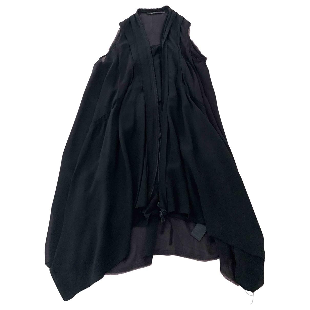 All Saints - Pull   pour femme en soie - noir
