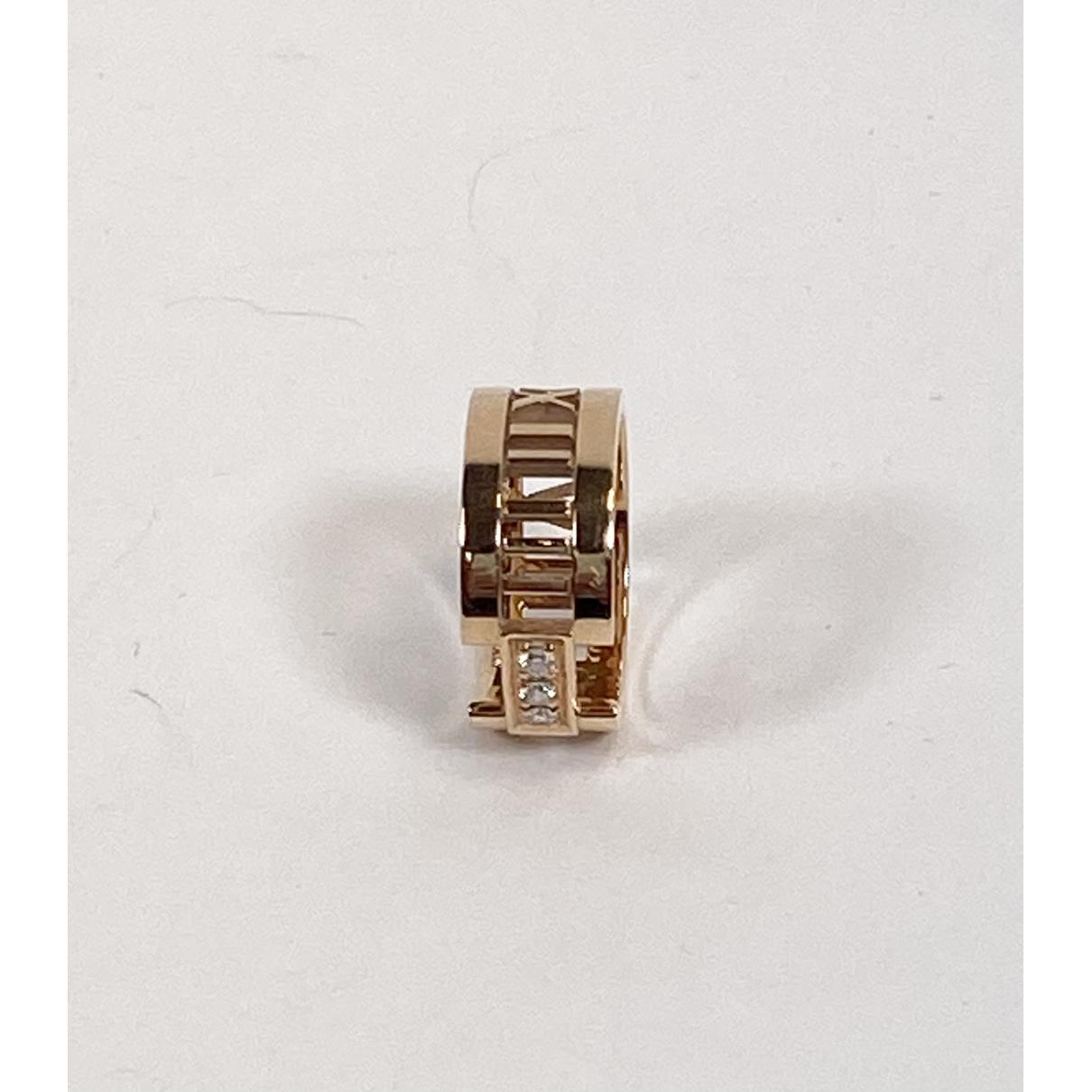 Tiffany & Co Atlas Gold Steel ring for Women 50 MM