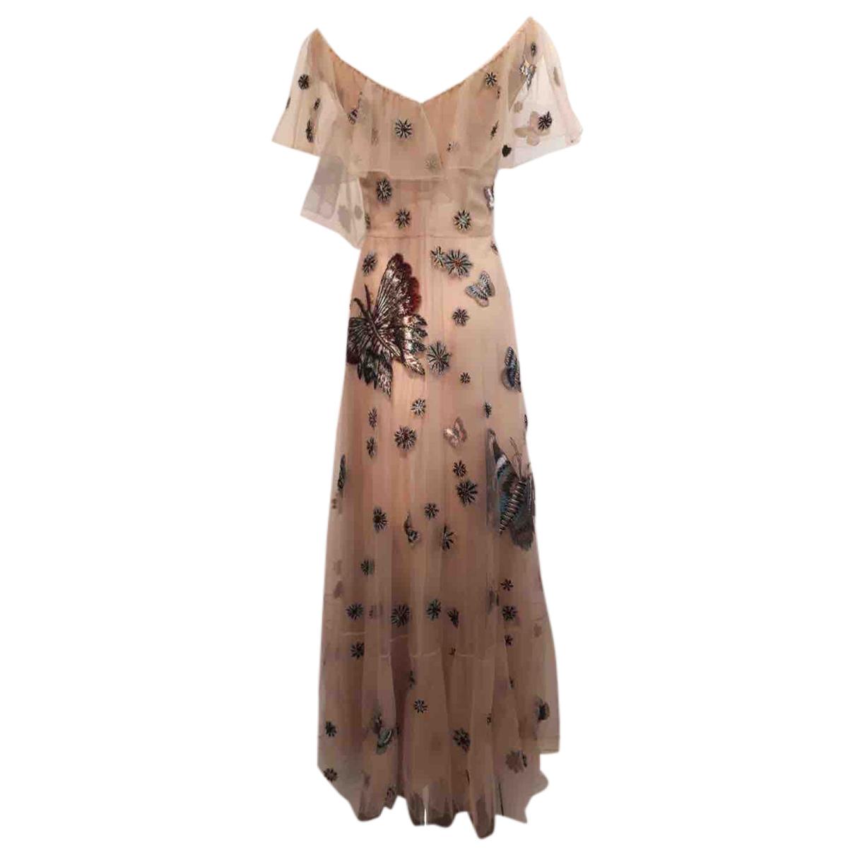 Valentino Garavani \N Kleid in  Beige Mit Pailletten
