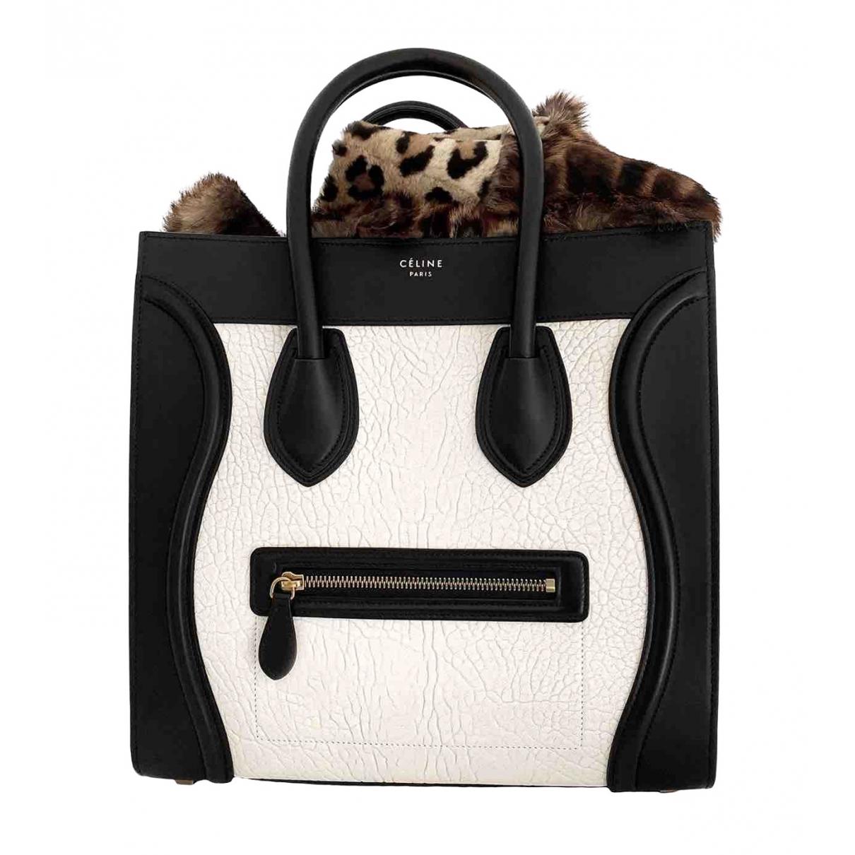 Celine - Sac a main Luggage pour femme en cuir