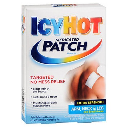 Icy Hot Hot Medicated Patches Extra Strength Small 5 each by Icy Hot