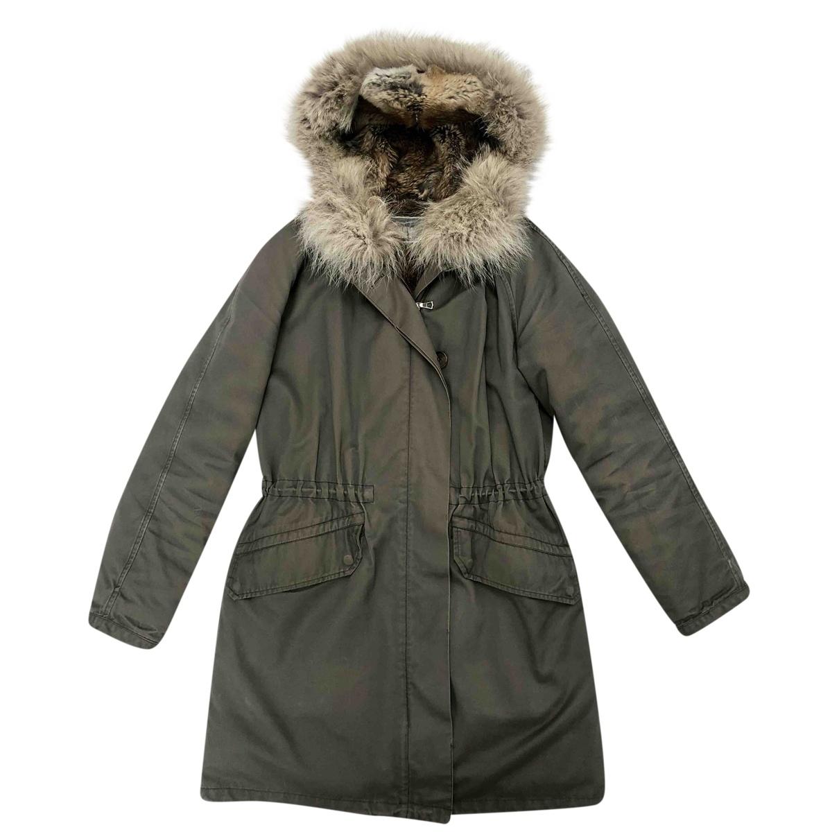 Army - Manteau   pour femme en lapin - kaki
