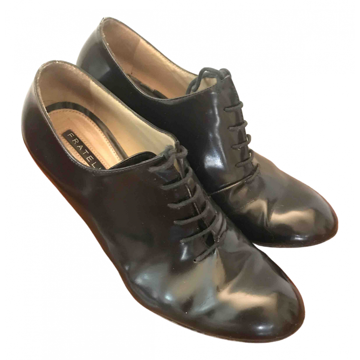 Fratelli Rossetti \N Black Leather Heels for Women 36 EU