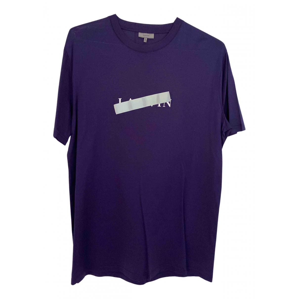 Lanvin - Tee shirts   pour homme en coton - bleu