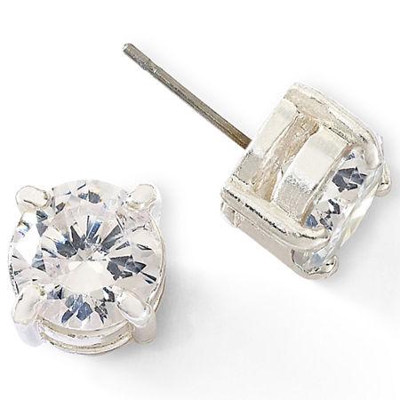 Monet Crystal Stud Earrings, One Size , White
