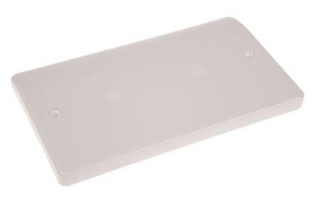 MK Electric White 2 Gang Blanking Plate, Flush Mounted Logic Plus