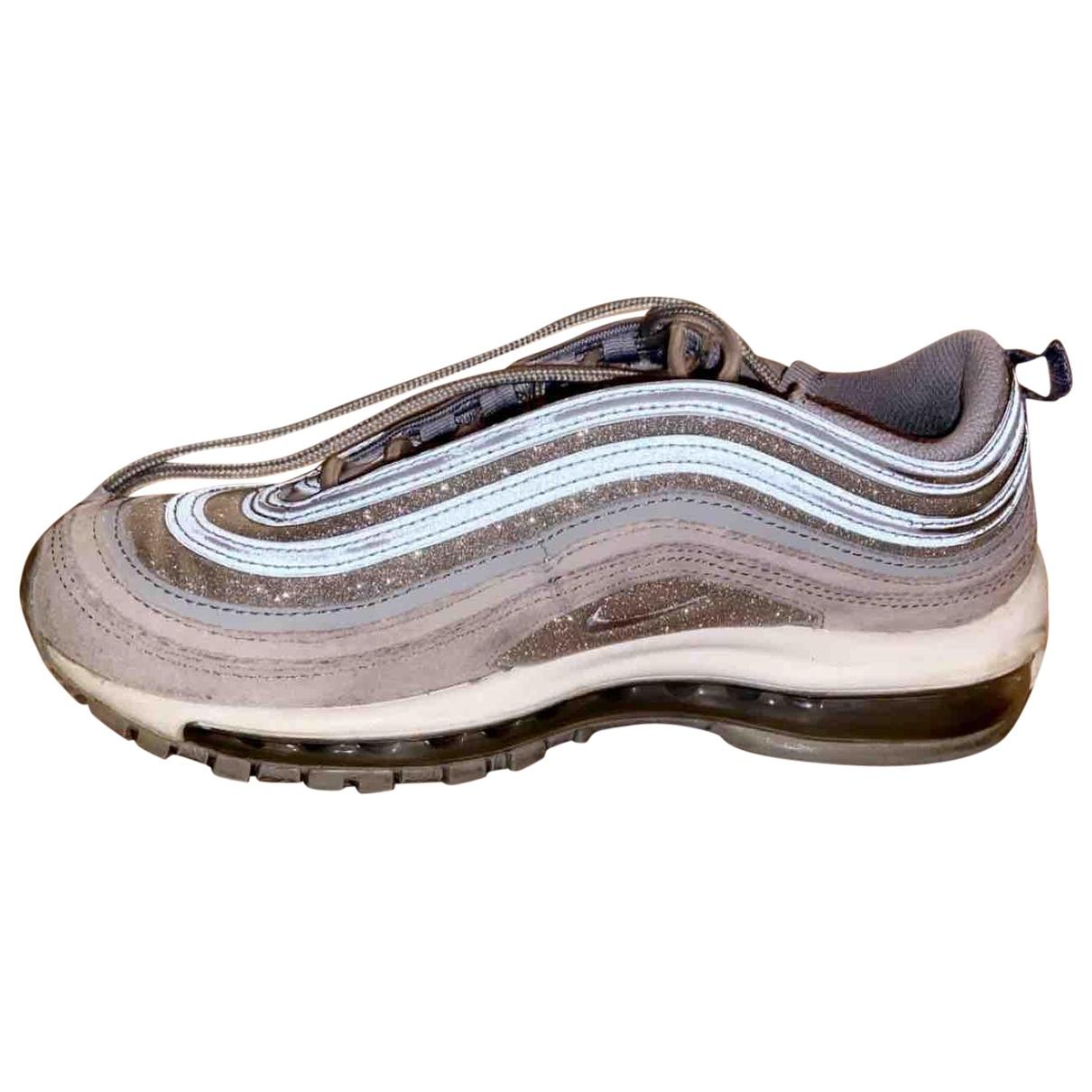Nike Air Max 97 Sneakers in  Silber Leder