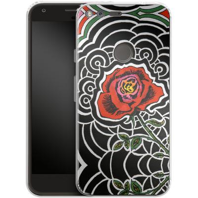 Google Pixel XL Silikon Handyhuelle - Marions Rose von Kaitlyn Parker