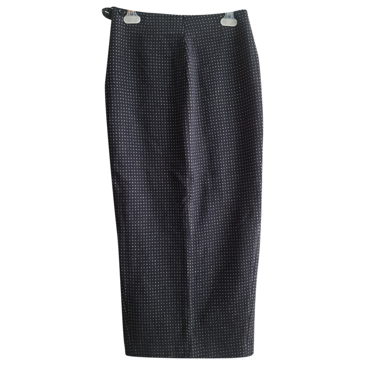 Non Signé / Unsigned \N Black Wool skirt for Women 42 IT