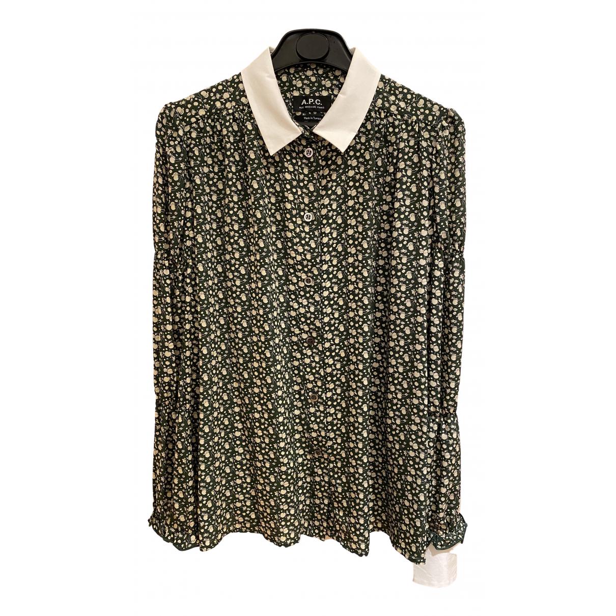 Apc N Khaki Silk  top for Women 34 FR