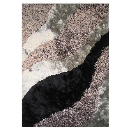 La Rugs Fantasy Shaggy Ix Shag Rectangular Indoor Rugs, One Size , Black