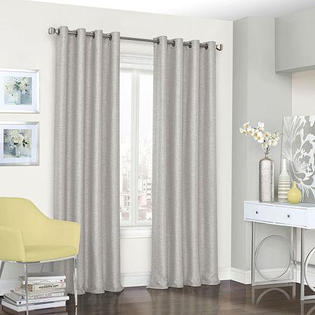 Eclipse Presto Energy Saving Blackout Grommet-Top Single Curtain Panel, One Size , Gray