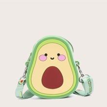 Umhaengetasche in Avocado-Form fuer Maedchen