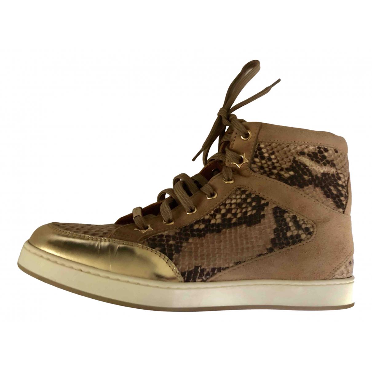 Jimmy Choo \N Sneakers in  Braun Python