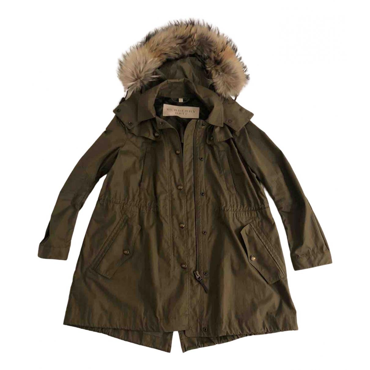 Burberry N Green Cotton coat for Women 48 IT
