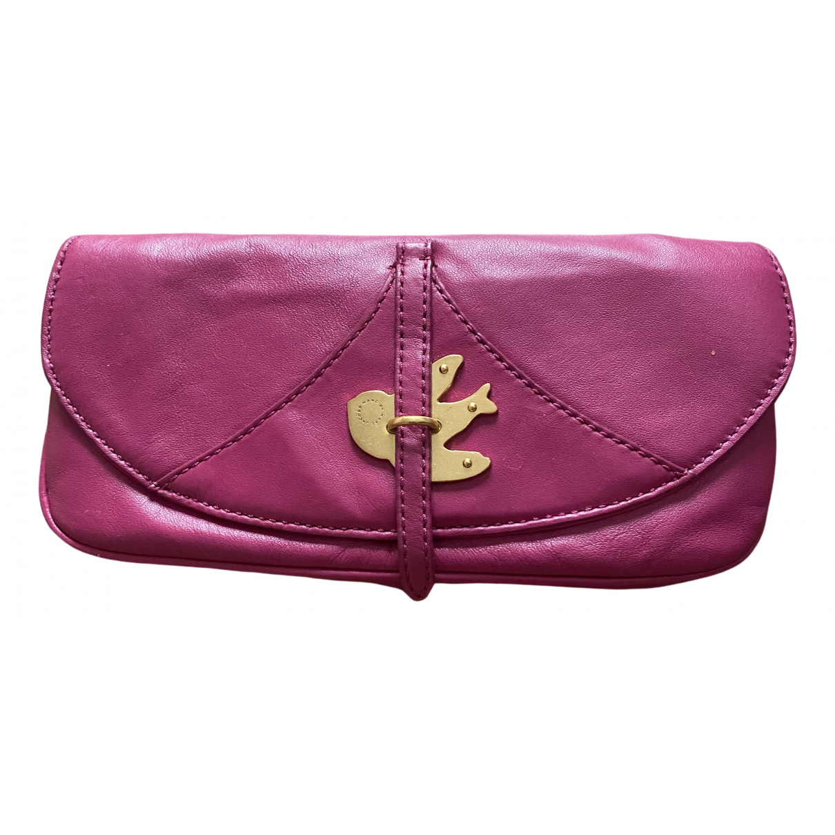 Marc By Marc Jacobs \N Clutch in  Lila Leder