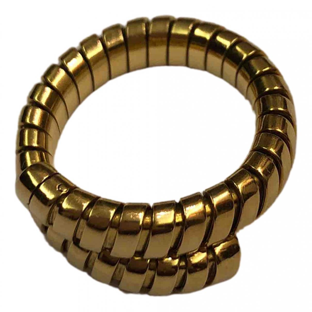 Bvlgari - Bague Tubogas pour femme en or jaune - dore