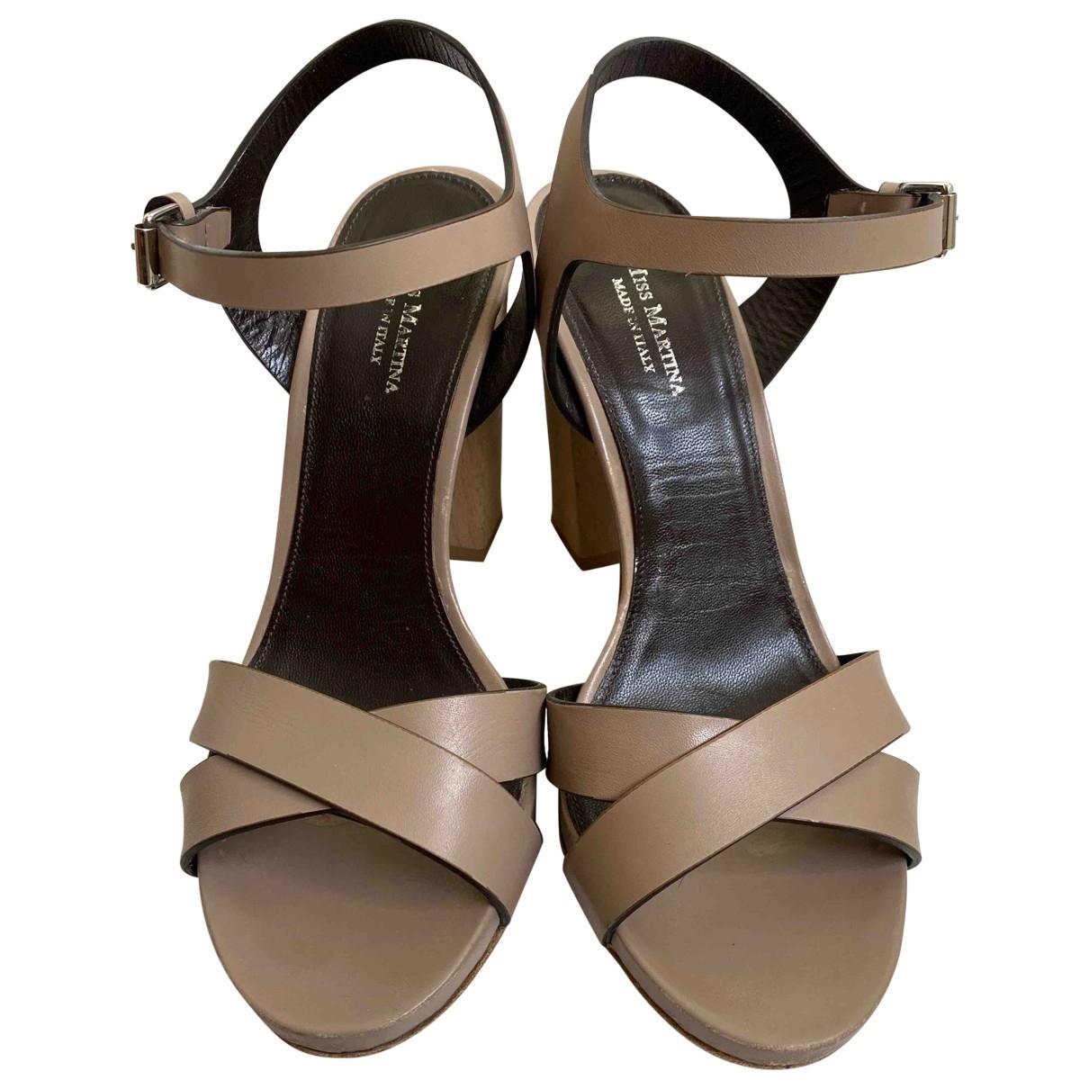 - Sandales   pour femme en cuir