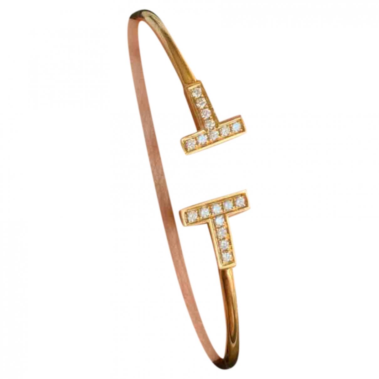 Tiffany & Co - Bracelet Tiffany T pour femme en or jaune - jaune