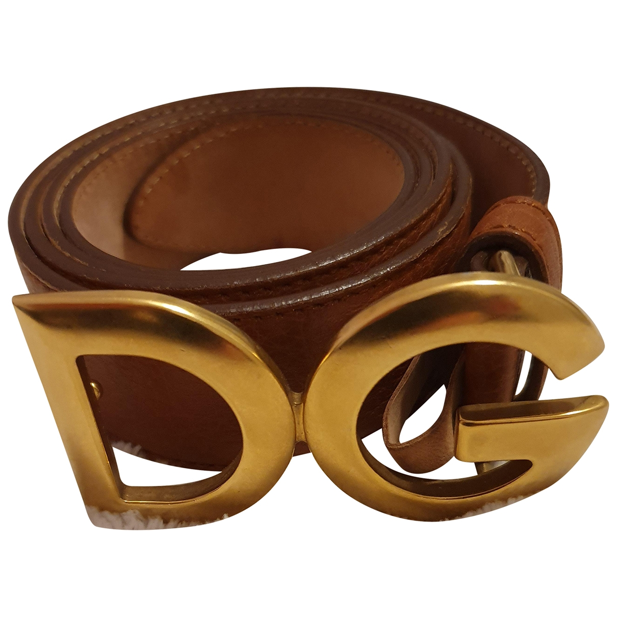 D&g \N Brown Leather belt for Women 95 cm