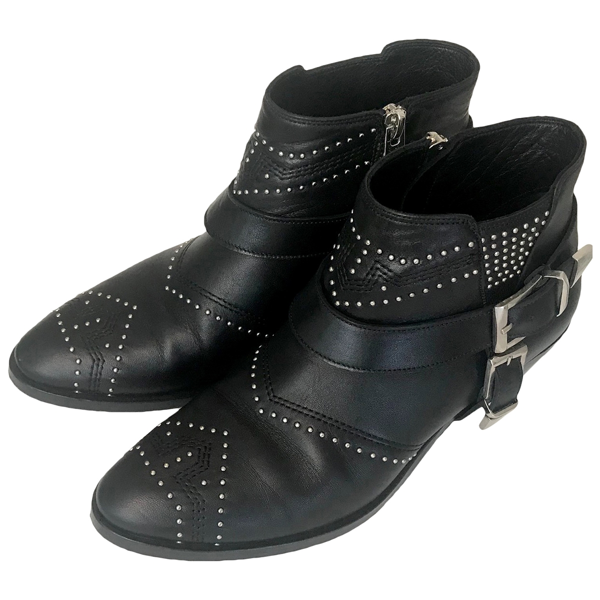 Anine Bing \N Black Leather Ankle boots for Women 36 EU