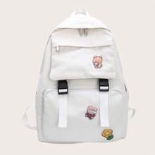 Cartoon Canvas Backpack