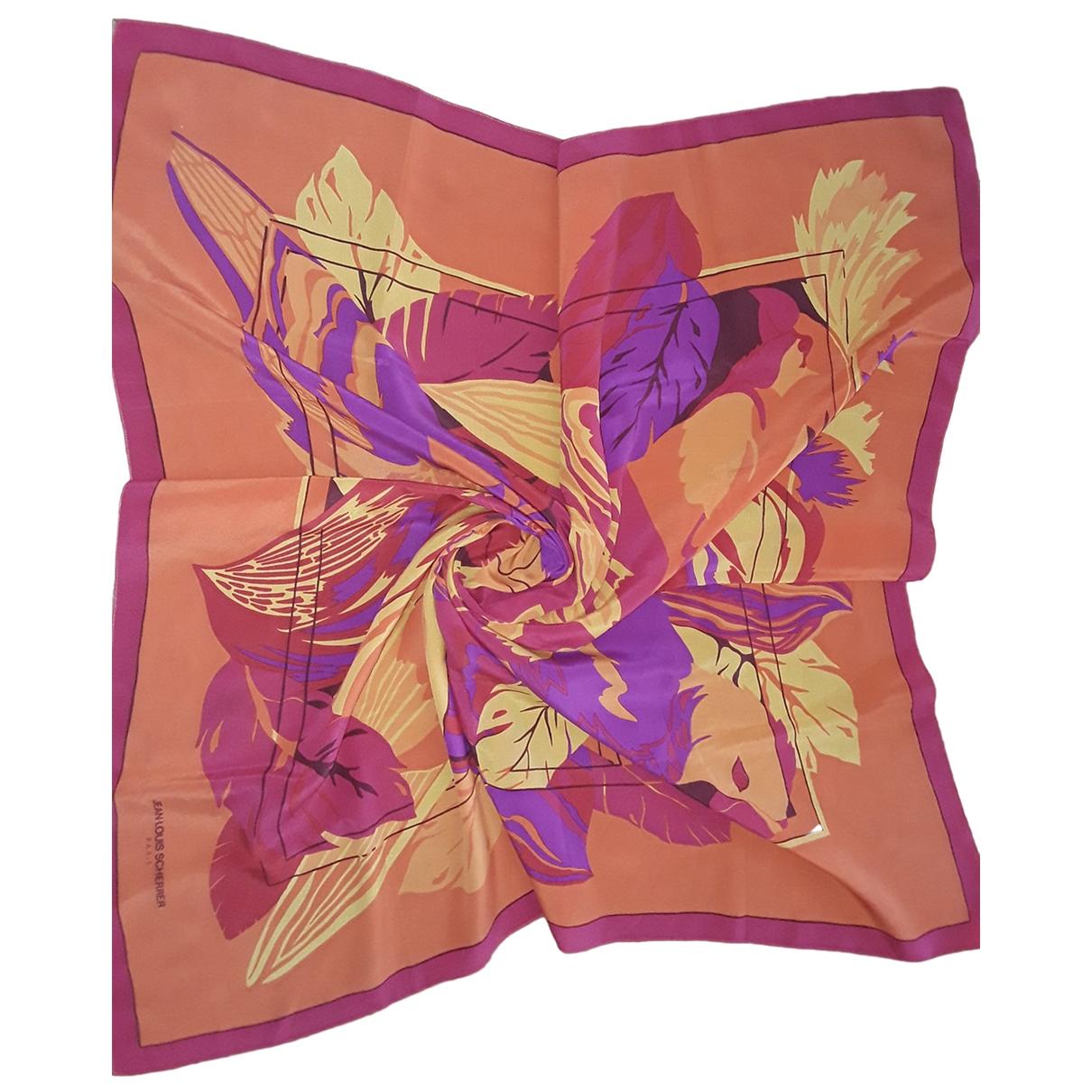 Jean-louis Scherrer - Foulard   pour femme en soie - orange