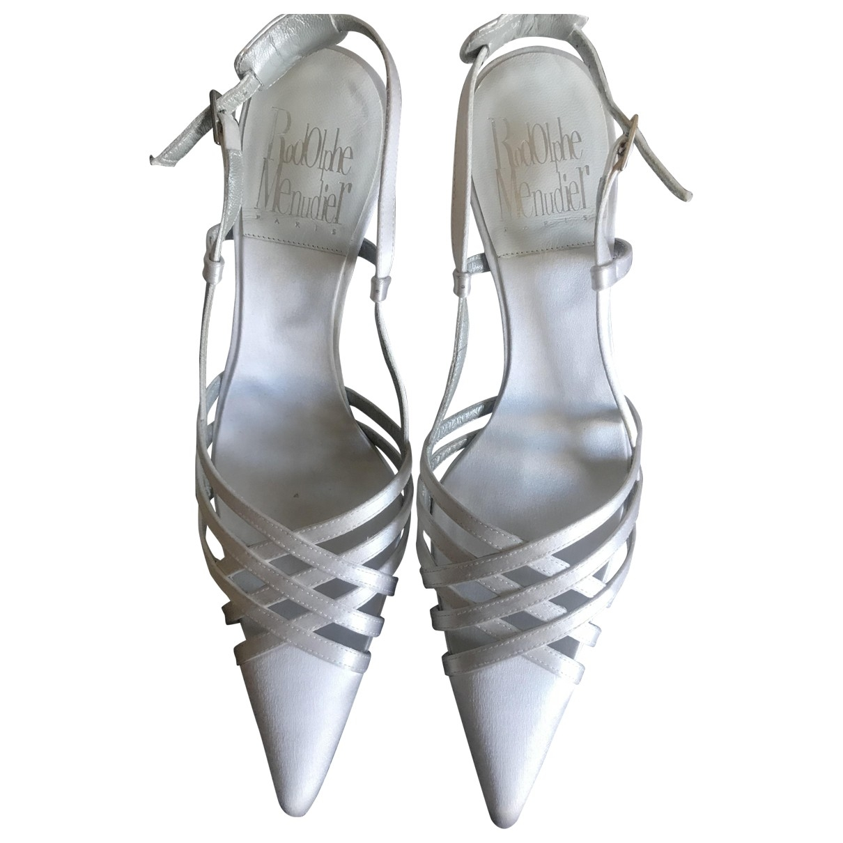 Rodolphe Menudier \N Grey Fur Sandals for Women 38.5 EU