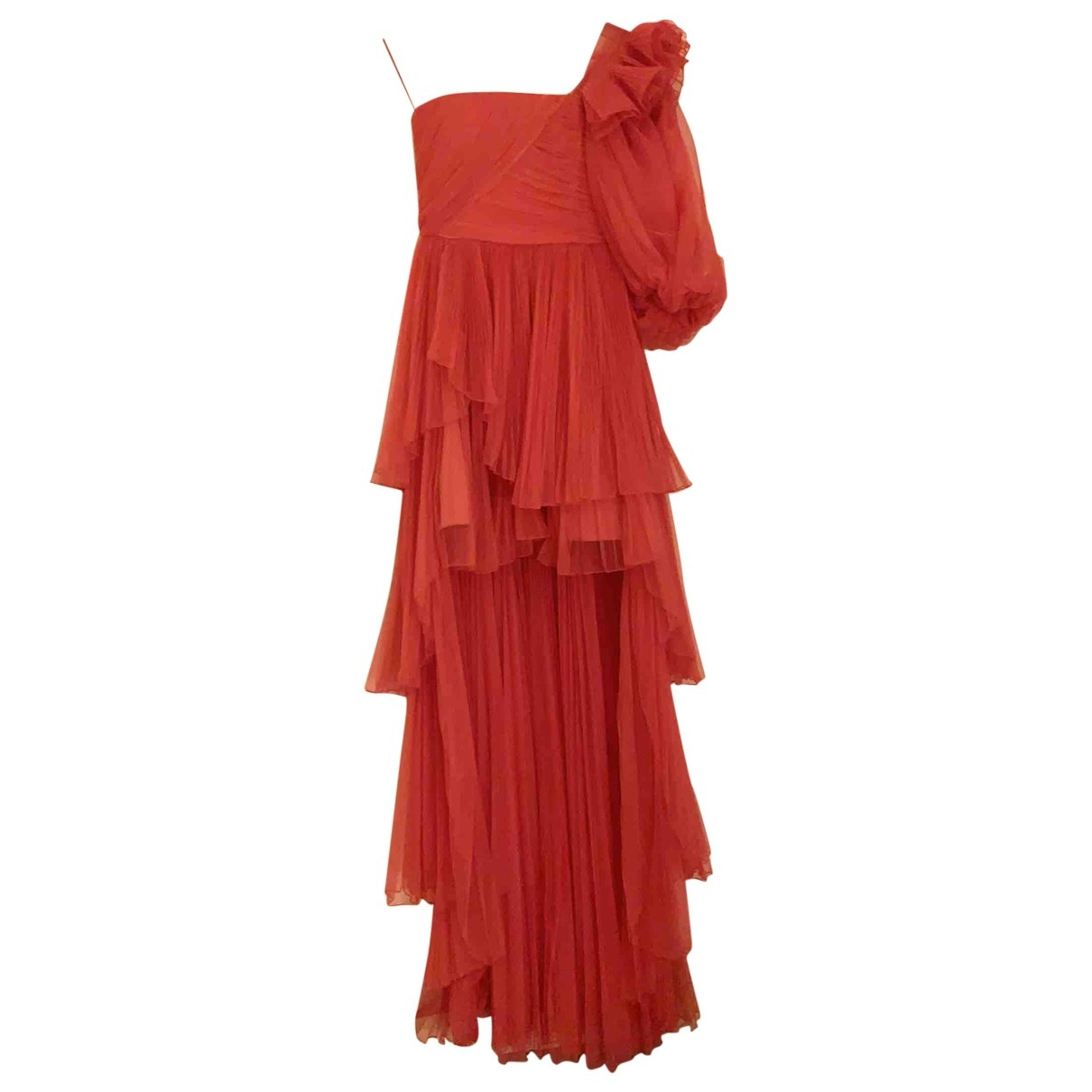 Alberta Ferretti \N Kleid in  Orange Polyester