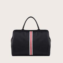 Striped Graphic Tote Bag