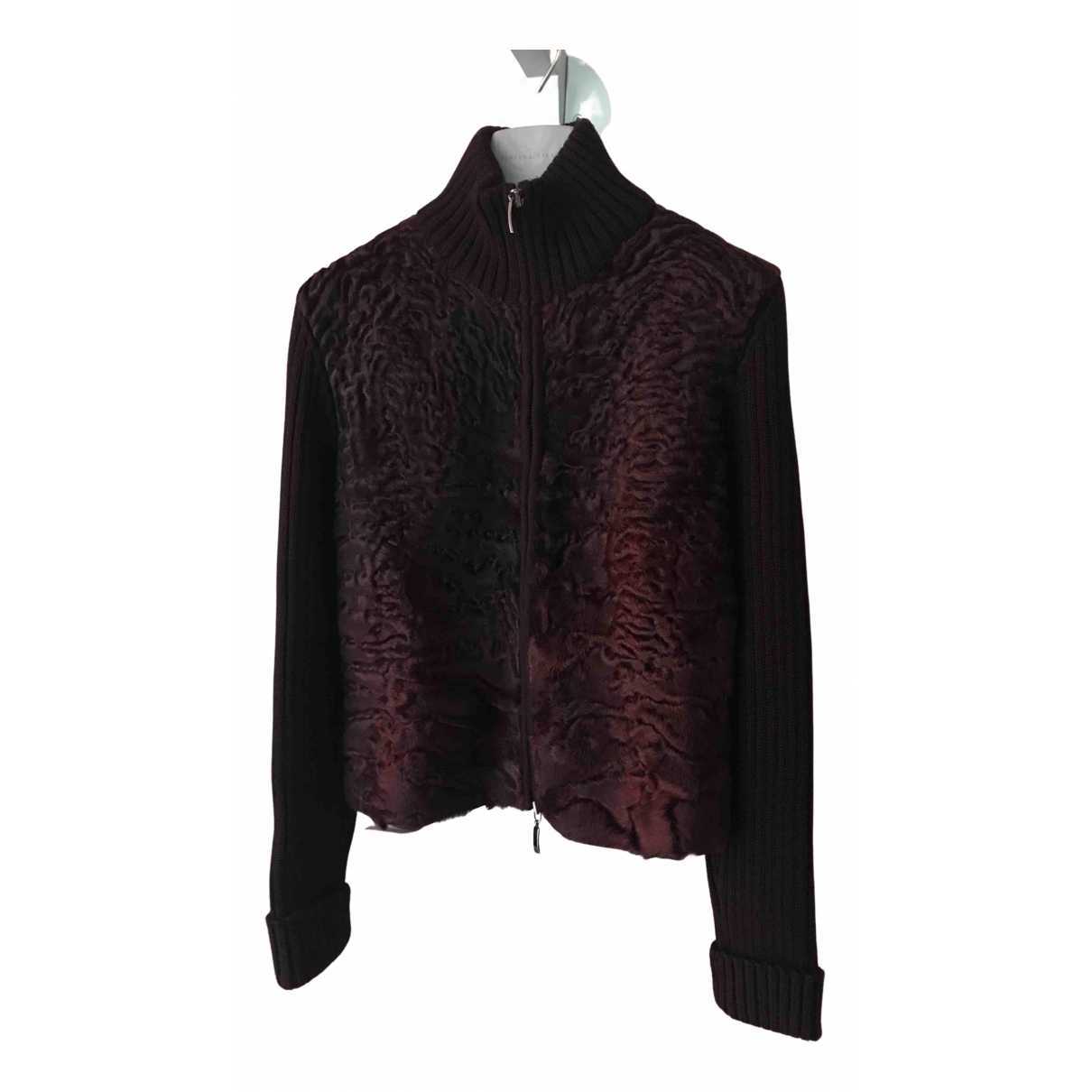 Non Signé / Unsigned N Burgundy Wool Knitwear for Women 40 IT