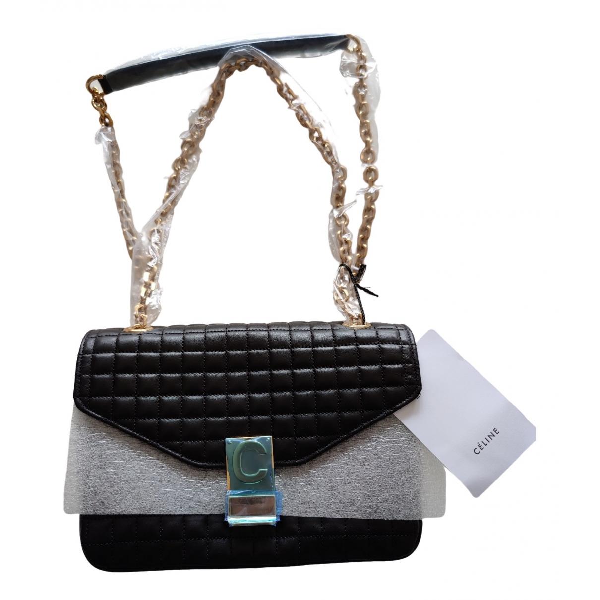 Celine C bag Handtasche in  Schwarz Leder