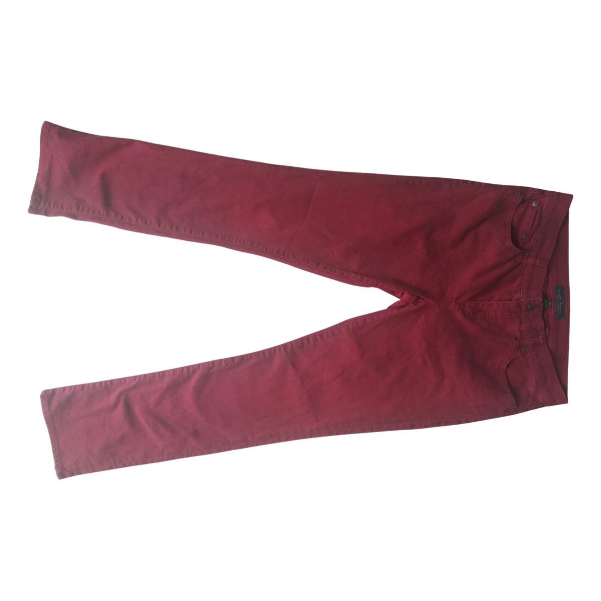 Lauren Ralph Lauren \N Burgundy Cotton - elasthane Jeans for Women 42 FR