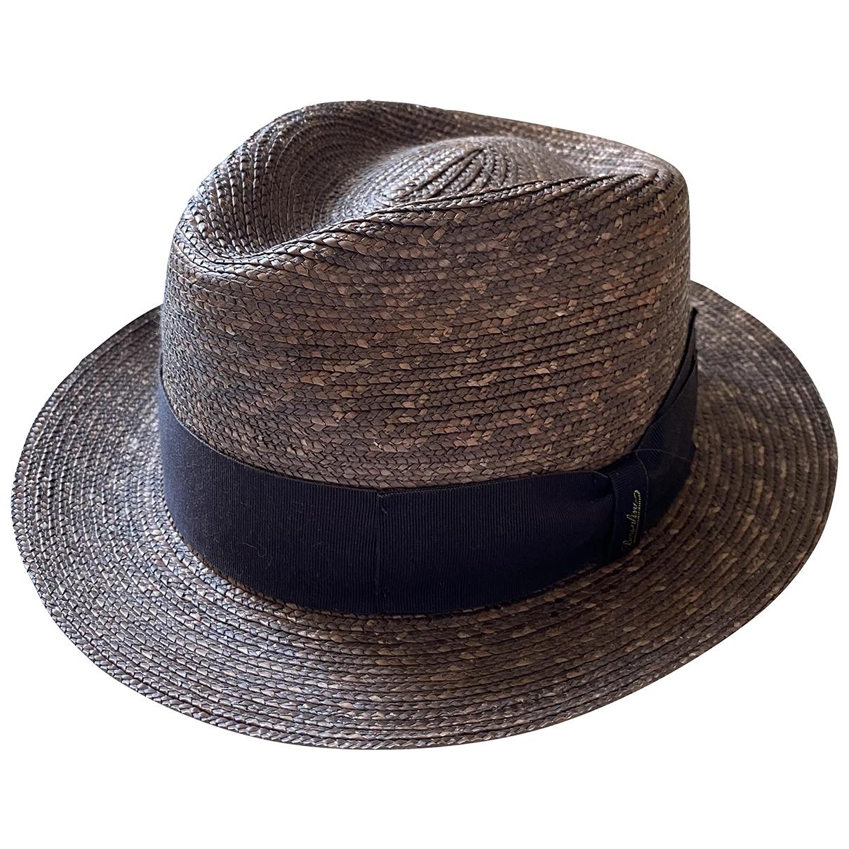 Borsalino - Chapeau & Bonnets   pour homme en paille - marron