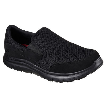 Skechers McAllen Mens Work Shoes, 8 1/2 Medium, Black