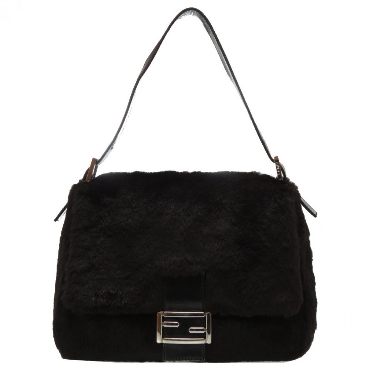 Fendi Mamma Baguette  Black Fur handbag for Women \N